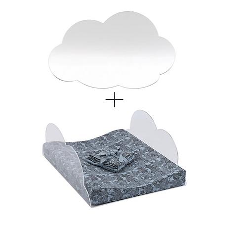 Baumgarten Changing Tabletop - Clouds + Mirror