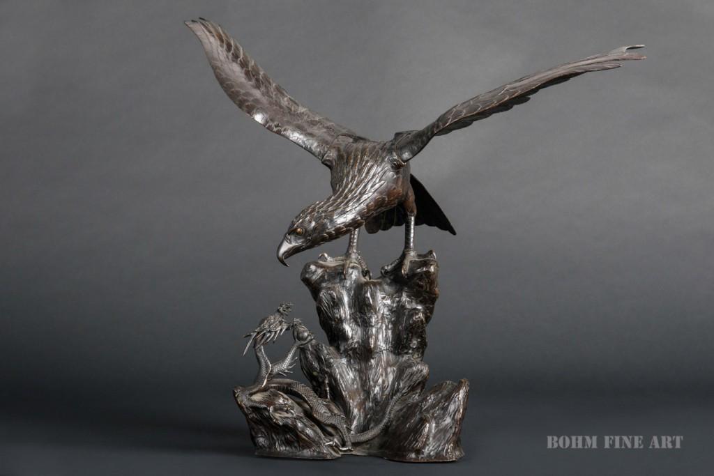 Aquila in bronzo, Giappone XX sec.