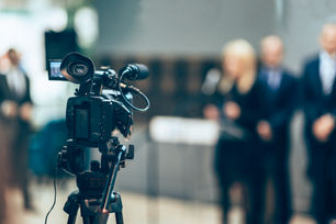 conferencia de la cámara de vídeo