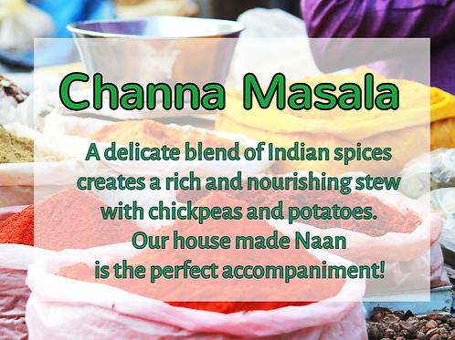 Chana Masala with Naan Bread