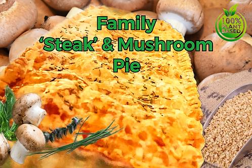 Family 'Steak', Mushroom  & Veggie Pie