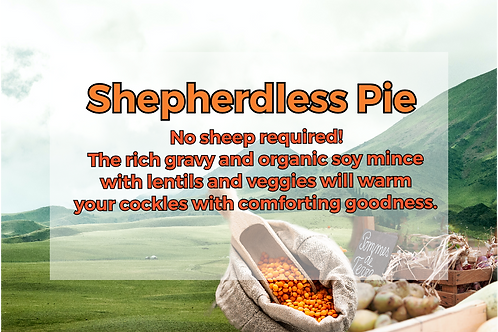 Shepherdless Pie with Lentils & Organic TVP