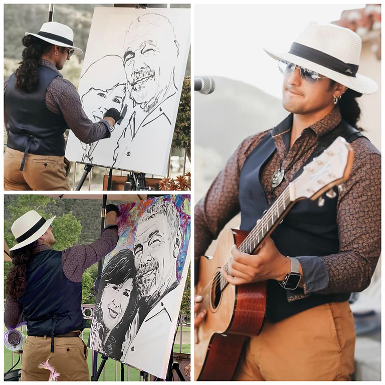 Outdoor show Live painting + Live music