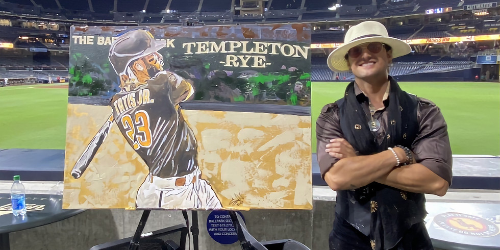 Sergio Paints at the Padres Game...again!