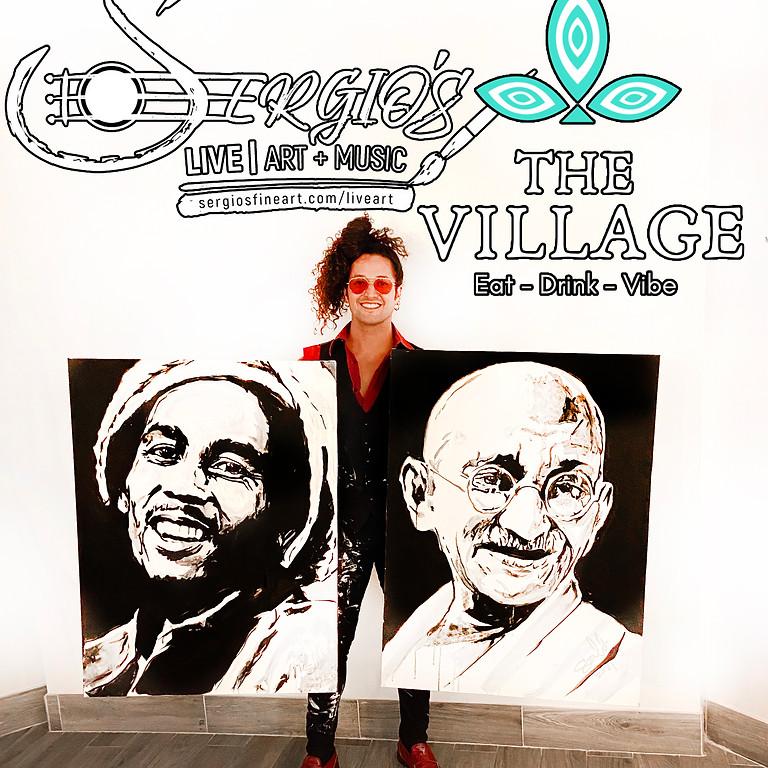 The Village SD- Live music + Live painting