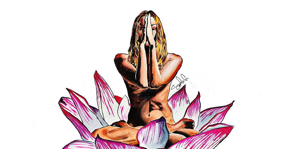 Live painting at Bliss Yoga