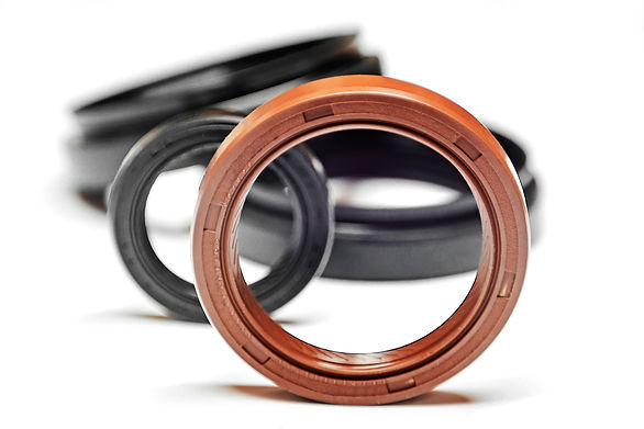 Oil seal on a white background with shal