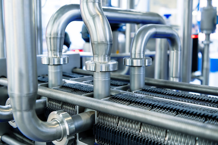 Industrial stainless steel piping connec