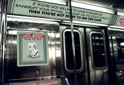 Monopoly Subway Car Ads