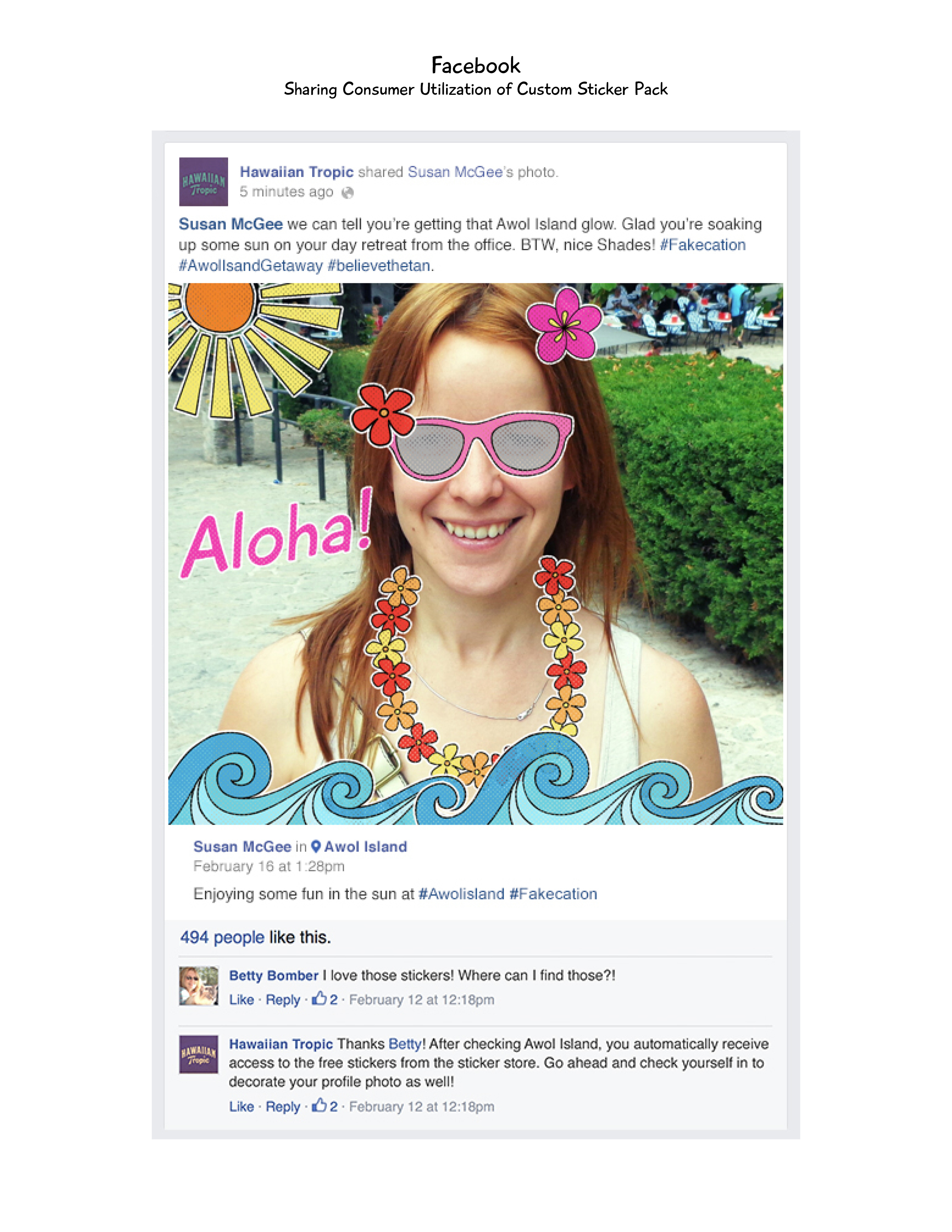Hawaiian Tropic Facebook 5