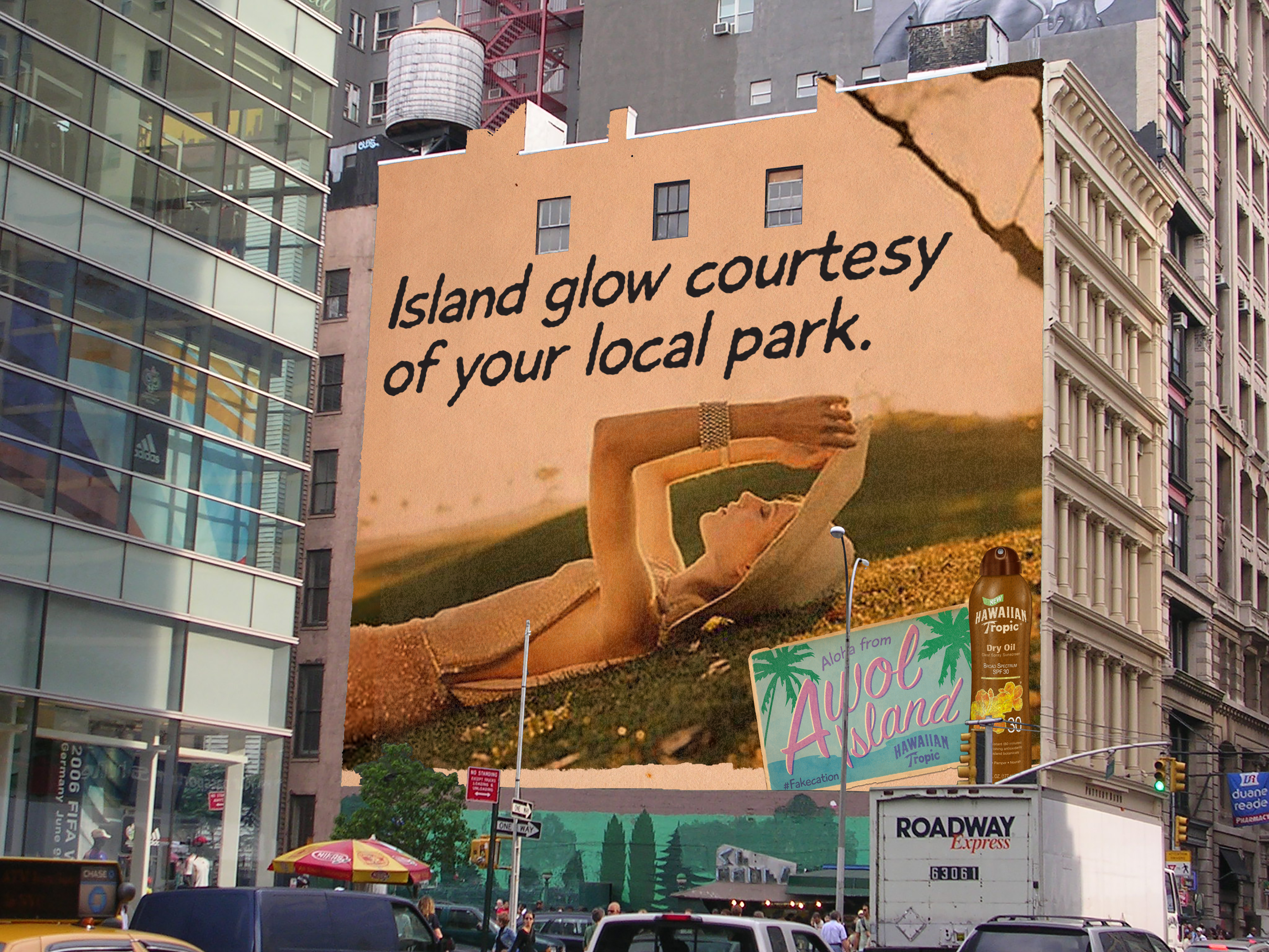 Hawaiian Tropic Outdoor Bulding Wrap