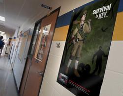 Zcamp Posters School Hallway Mockup