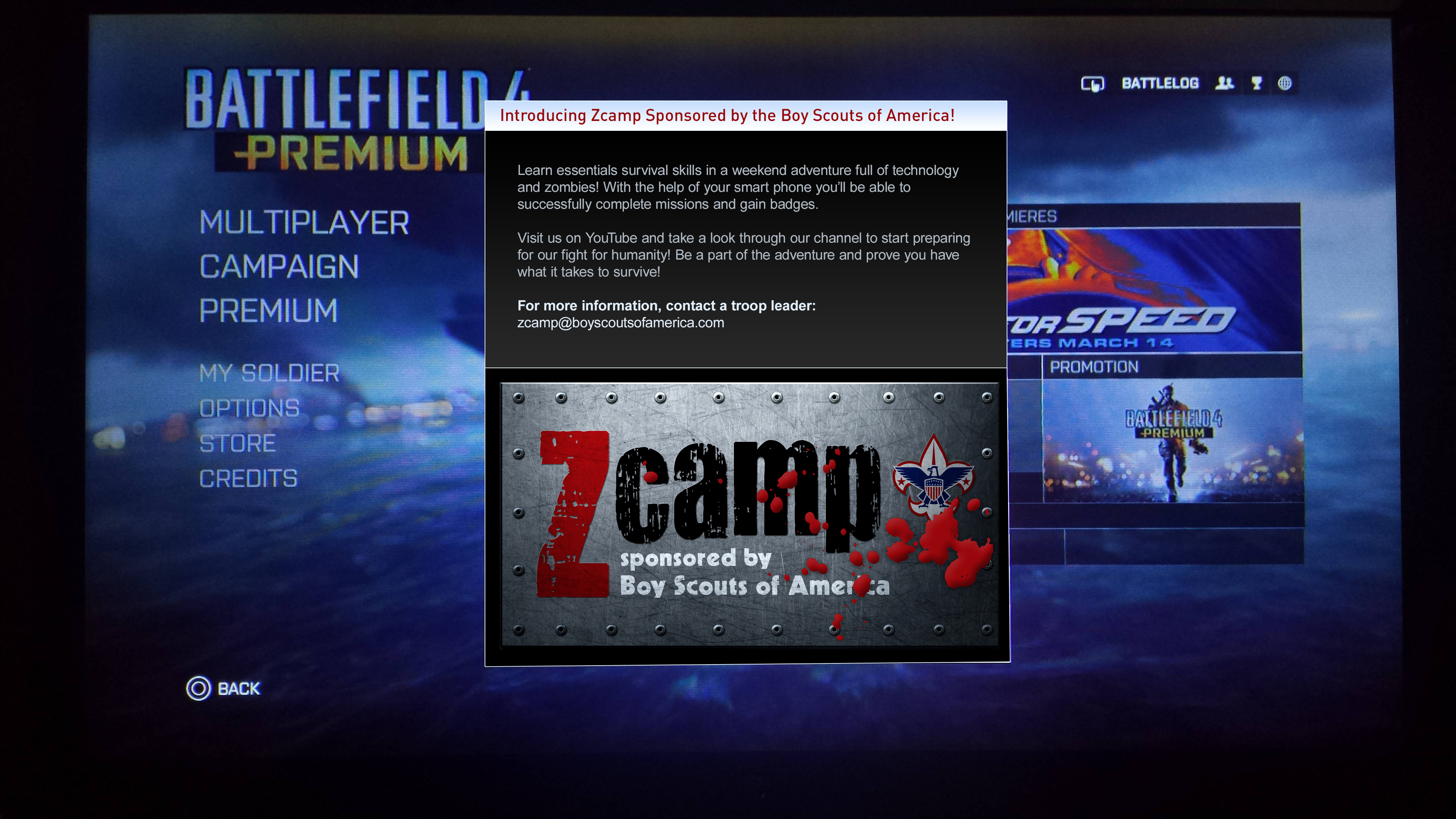 In Game Ad 4-Home Screen