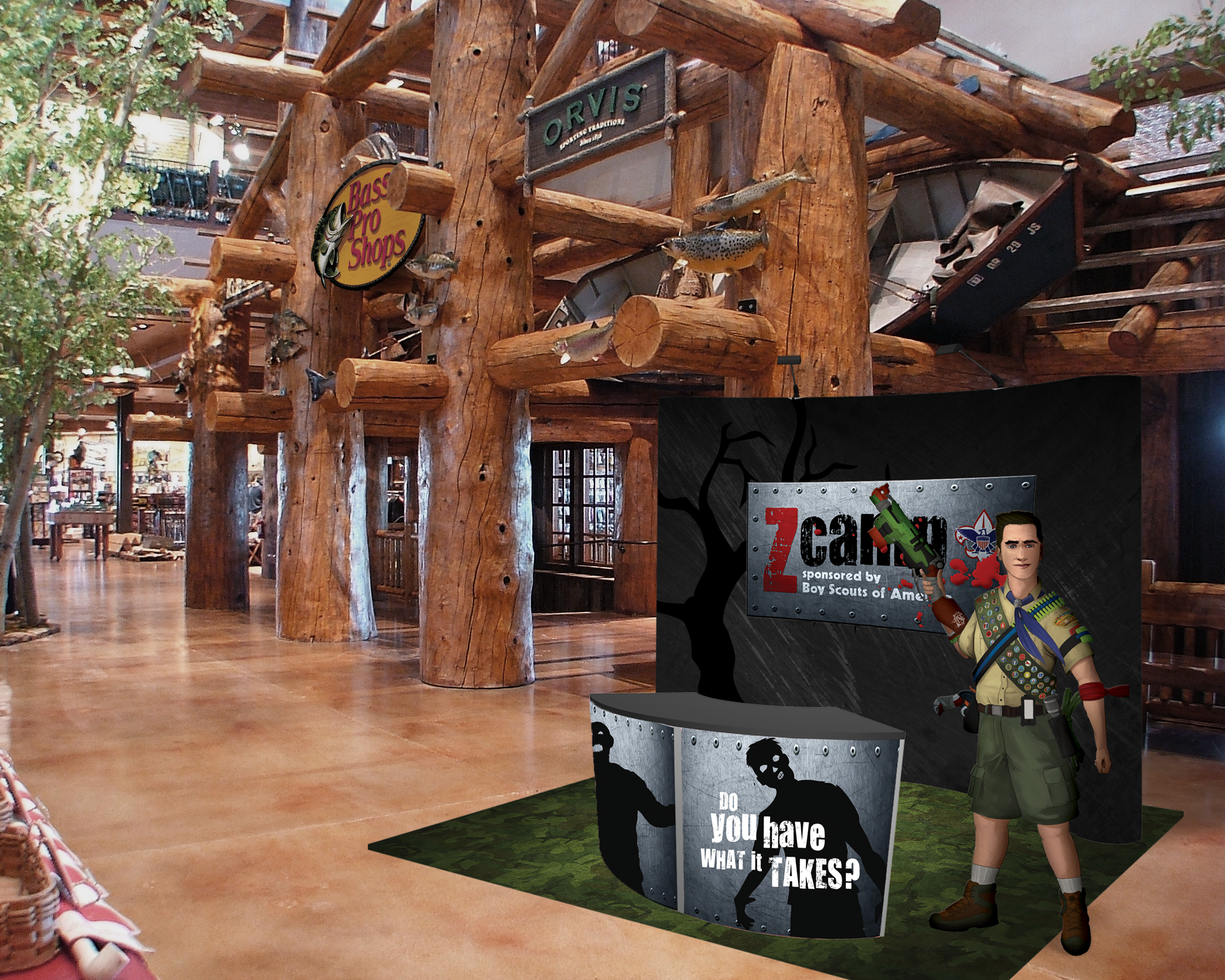 Zcamp Recruitment Booth Activation Stunt - Mockup v2