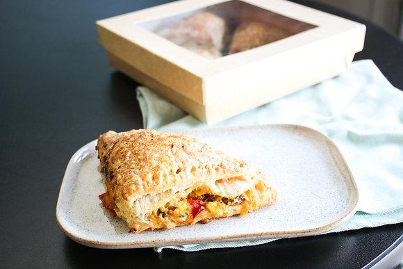 (4) Stuffed Breakfast Croissants