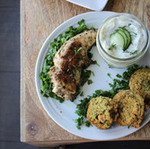Greek Chicken + Falafel