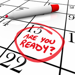 A calendar with the date 15 circled asking Are You Ready to illustrate being prepared or a state of