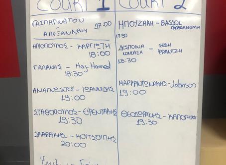 6o ΒΑΡΗ Open 2020 Squash Tournament – YAVA!