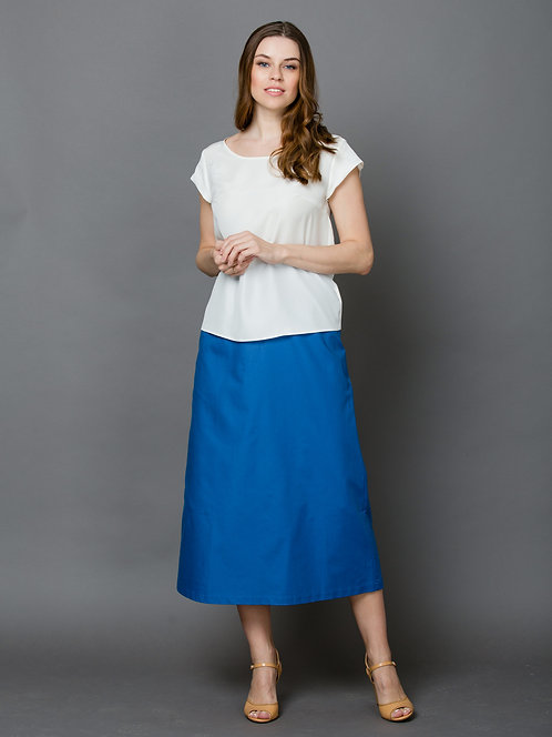 Шелковая белая блузка