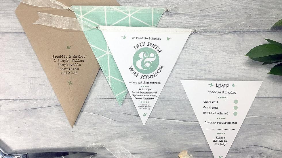 Classic Rustic Leaf Wedding Invitation