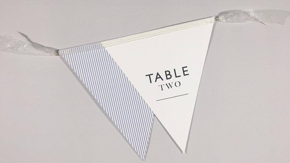 Minimalist Table Numbers