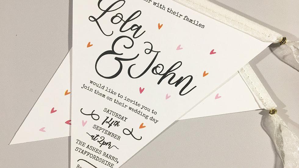 Classic Confetti Wedding Invitation