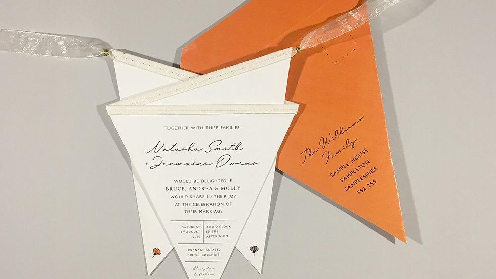 Deluxe Minimalist Floral Wedding Invitation