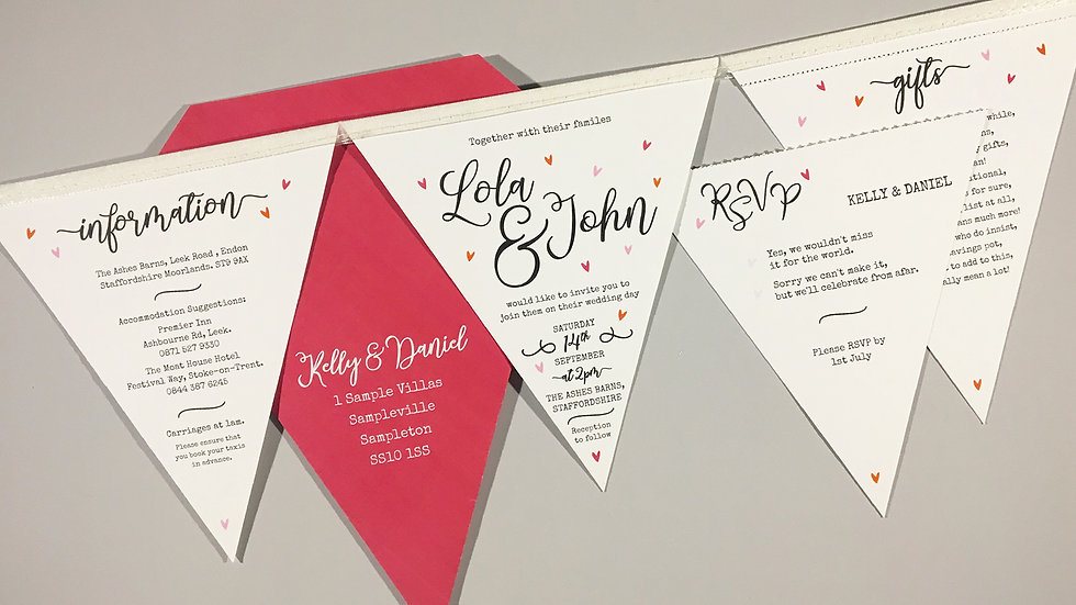Deluxe Confetti Wedding Invitation
