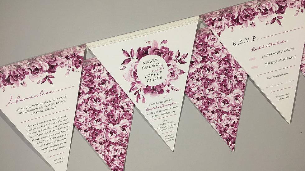 Deluxe Bouquet Wedding Invitation