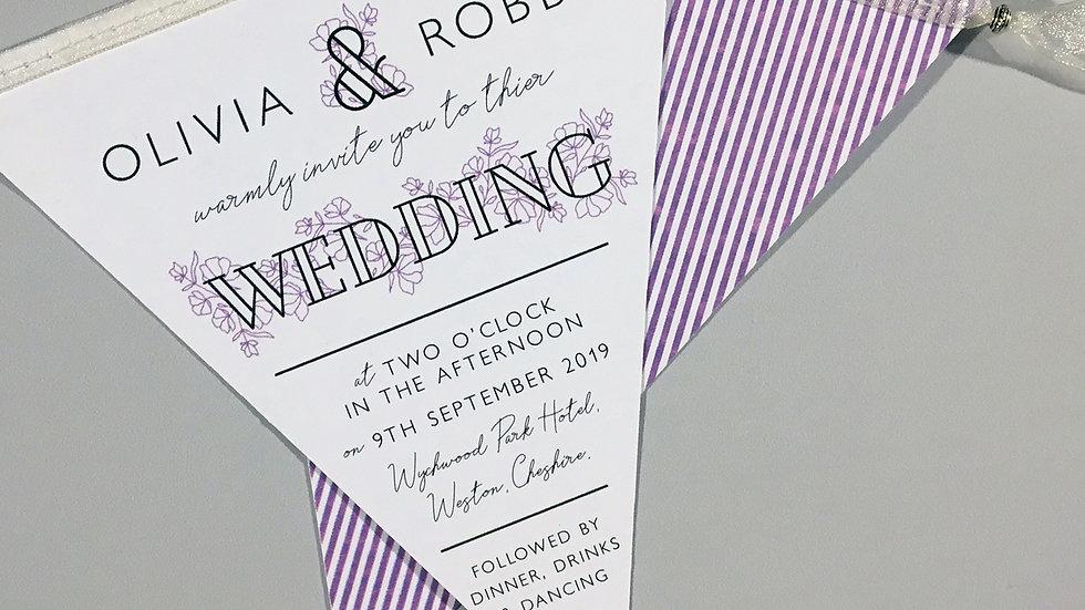Classic Dainty Floral Wedding Invitation
