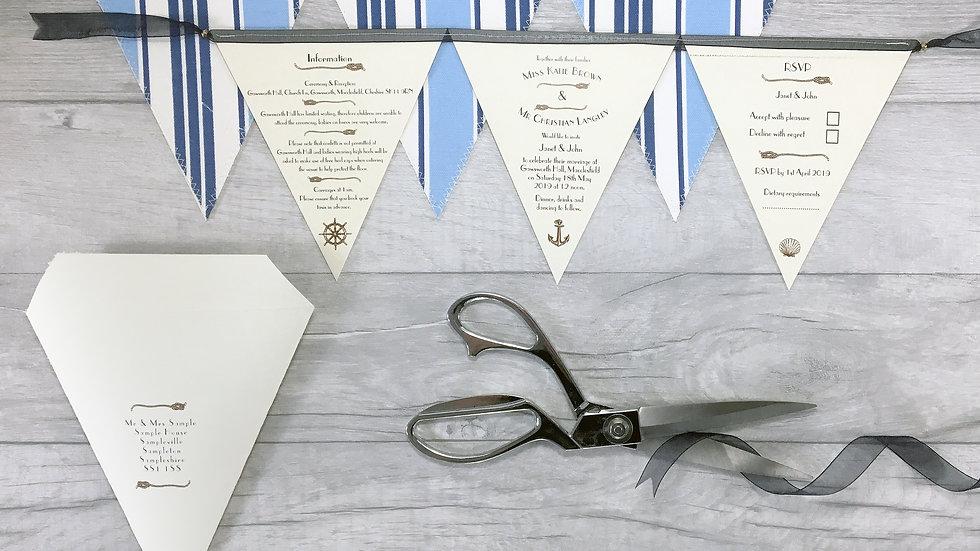 Deluxe Nautical Wedding Invitation
