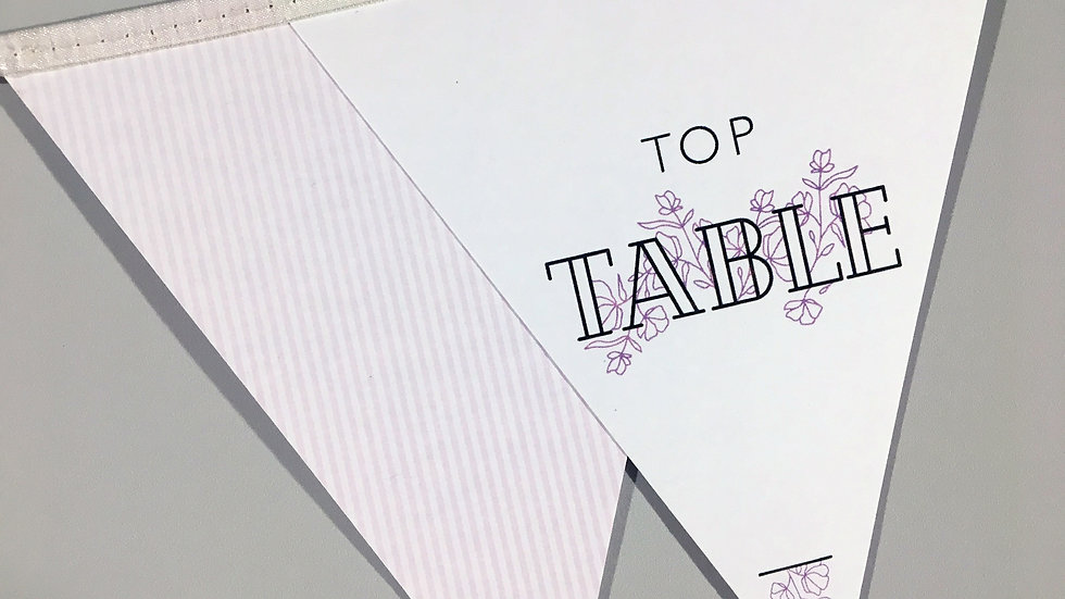 Dainty Floral Table Numbers