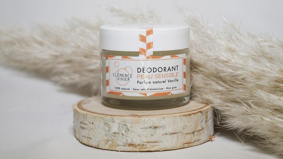 Déodorant naturel peau sensible Vanille - Clémence et Vivien
