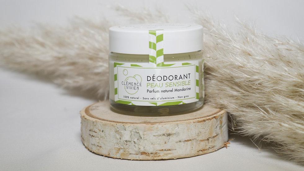 Déodorant naturel peau sensible Mandarine - Clémence et Vivien