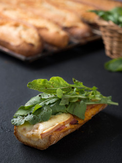 Tartine - Smoked Scarmoza, Ham and Arugula