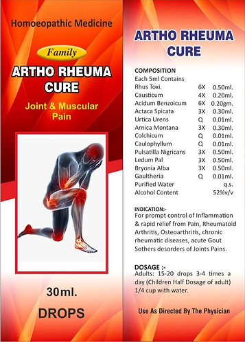Family Artho Rheuma Cure For Joint & Muscular Pain Pack of 3