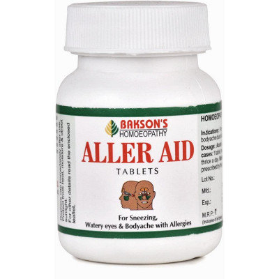 Bakson Aller Aid Tablets (75tab)(Running Nose, Sneezing, Watery Eyes) Pack of 3