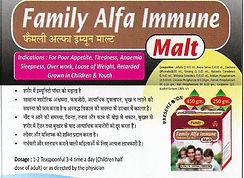 Family Alfa Immune Malt 450 Gram Pack of 2