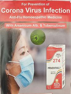 REPL Drop 274 Priventive-7 Anti Flu Pack of 3