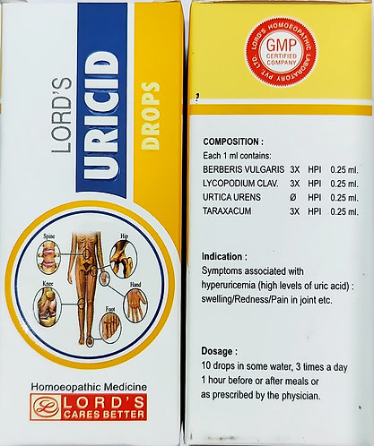 lord's Uricid Drops Pack of 3