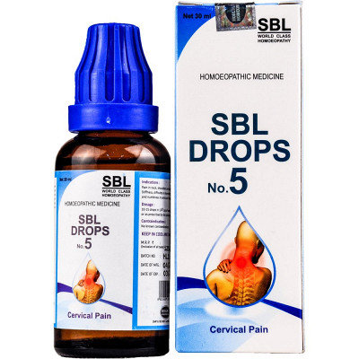 SBL Drops No. 5 (For Cervical Pain) (30 ml Drop in bottle) Pack of 3