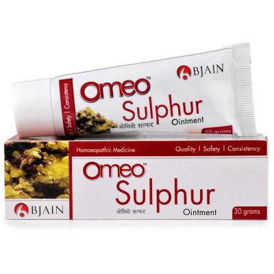 बी जैन Omeo सल्फर मरहम (30 ग्राम) सूखी त्वचा, खुजली, दाना के लिए उपयोगी है