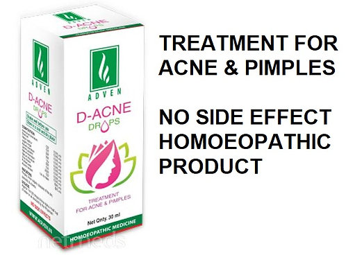 Adven D-ACNE DROPS FOR ACNE & PIMPLES Liquid 30 ml Pack Of 4