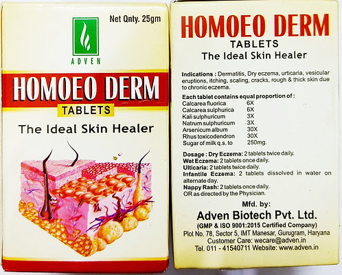 Adven Homoeo Derm Tablet (25g) Pack of 3
