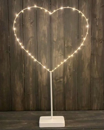Heart with Lights on Stand