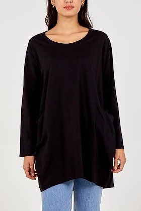 Long Sleeve Two Pocket Jersey Tunic