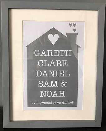 Personalised Family Home Frame