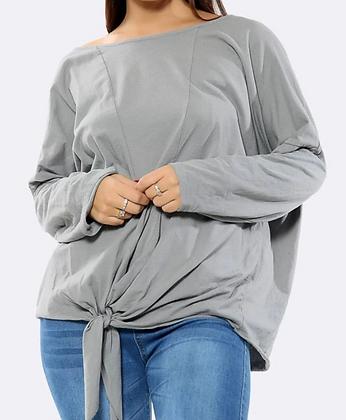 Tie Front Jersey Top