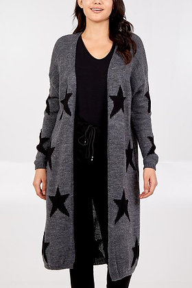 Long Star Knitted Cardigan