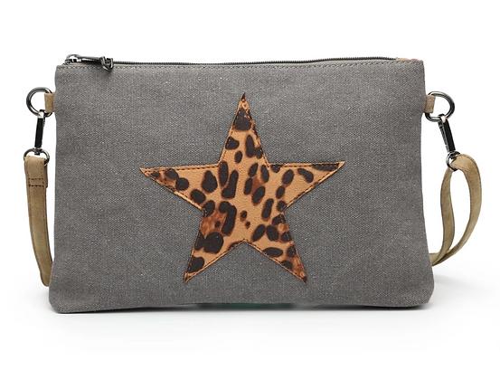 Leopard Star Crossbody Bag